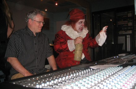 Bruce Dow supervises the mix during the recording of The Tempest at The Stratford Festival, 2011