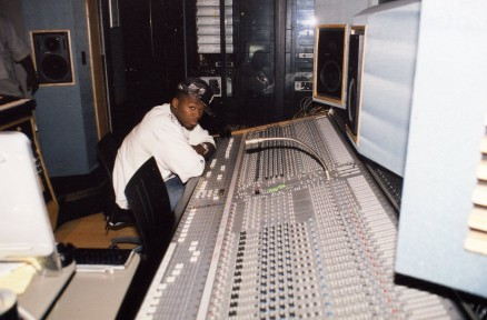 "50 Cent in the Mobile, working on the soundtrack for ""Get Rich Or Die Trying"", August 2005"
