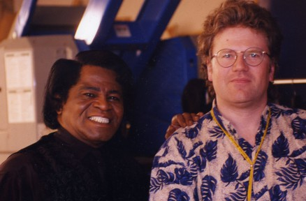 Doug with James Brown on the set of Blues Brothers 2000