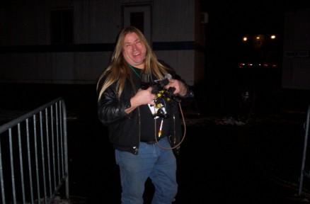 Gary Tompkins preparing to mic the Audience - New Years Eve - Niagara Falls